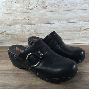 Harley Davidson Leather Clogs Womens Size 7.5